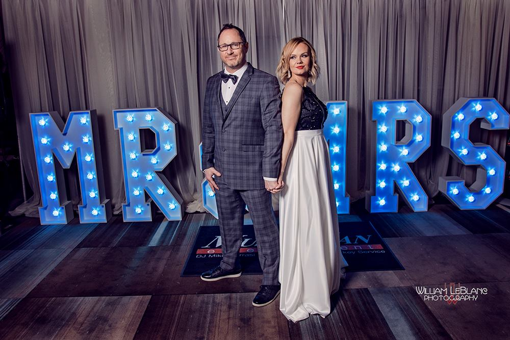 4' MR & MRS Light Up Letters - Photo by William LeBlanc