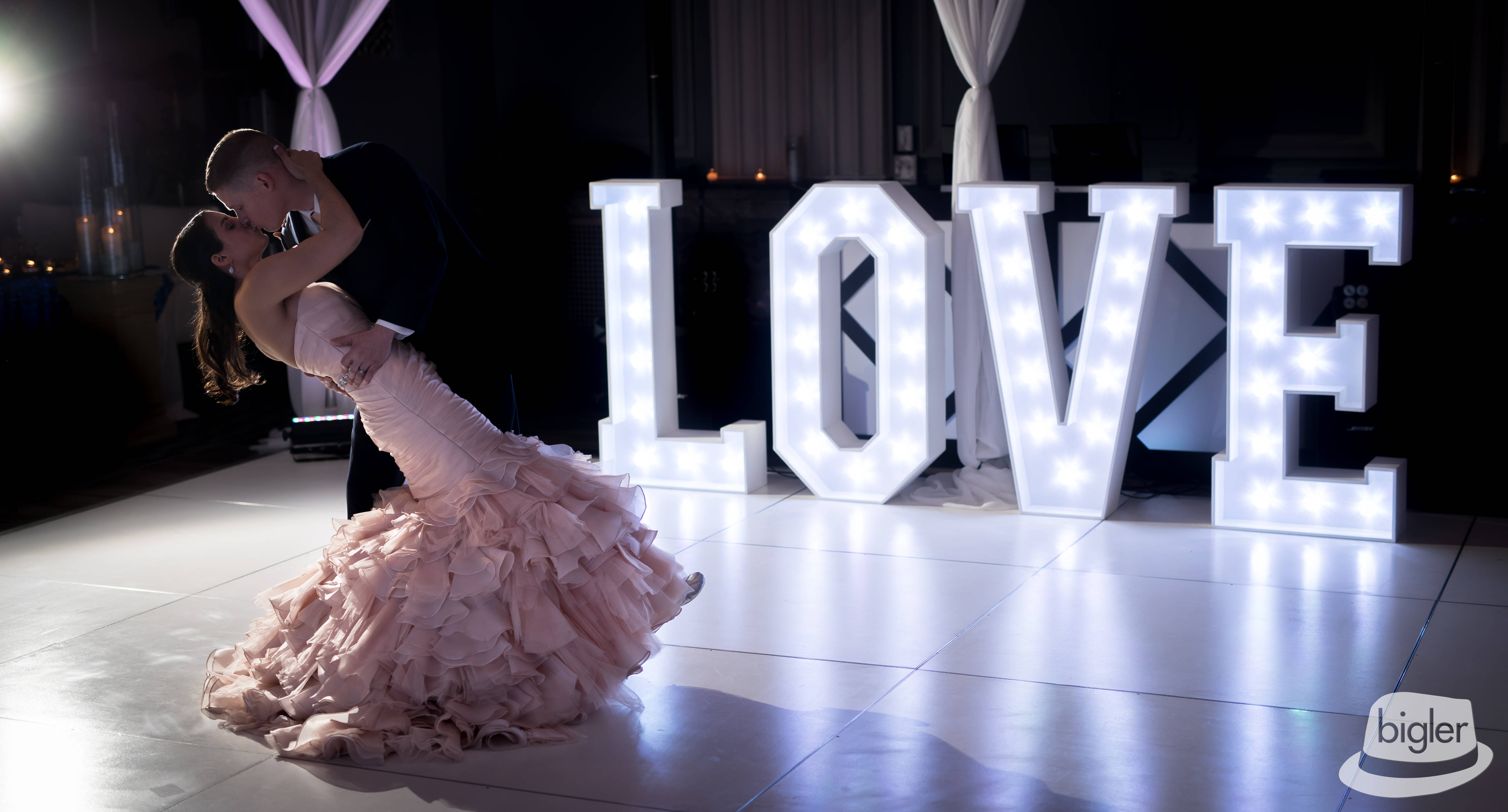 4' LOVE Light Up Letters - Photo by Bigler Photo & Video