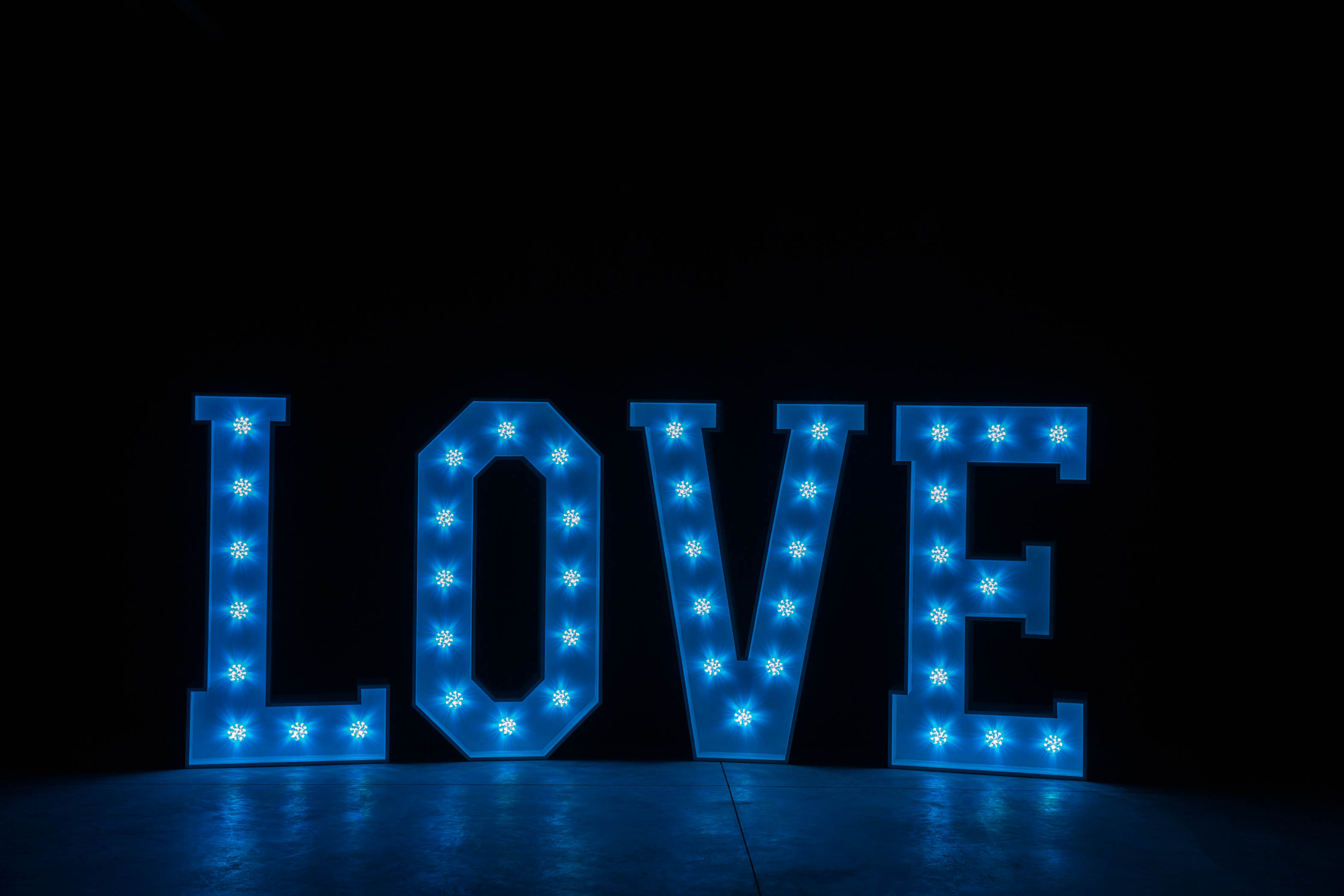 4' LOVE Letters - Light Blue Light - Photo by Viscosi Photography
