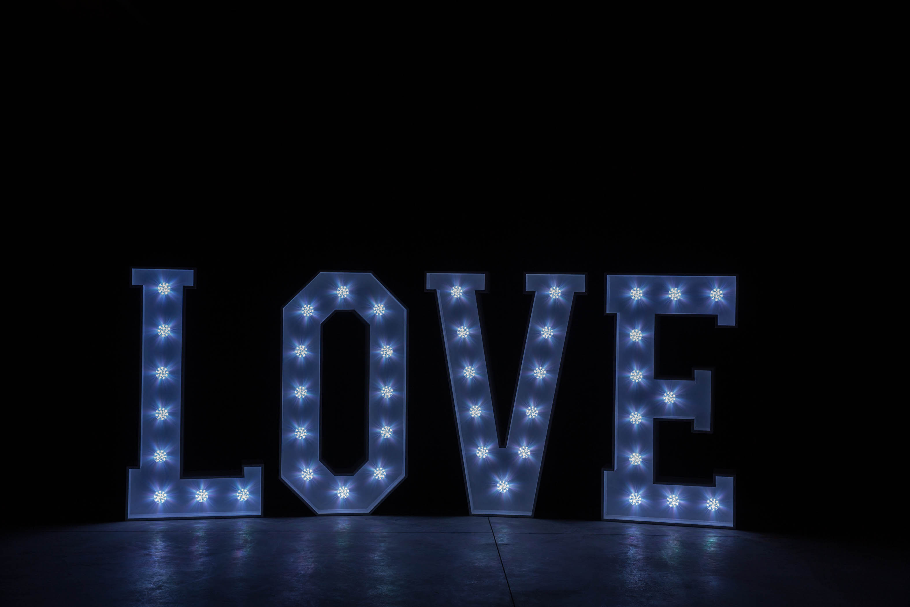 4' LOVE Letters - White Light - Photo by Viscosi Photography