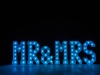 4' MR & MRS Letters - Light Blue Light - Photo by Viscosi Photography