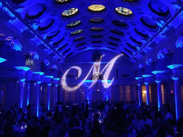 Monogram & Blue Up Lighting @ Canfield Casino