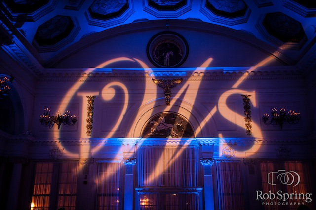 Monogram & Blue Up Lighting @ Canfield Casino - Photo by Rob Spring Photography