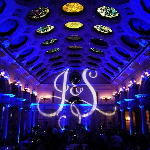 Monogram & Blue Up Lighting @ The Canfield Casino