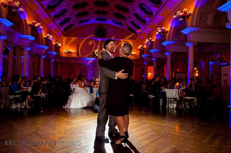 Blue Up Lighting & Monogram @ The Canfield Casino - Photo by Kretschmann Studio