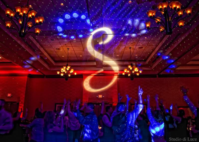 Monogram & Red Up Lighting @ The Clifton Park Hilton Garden Inn - Photo by Lisa Miller of Studio di Luce