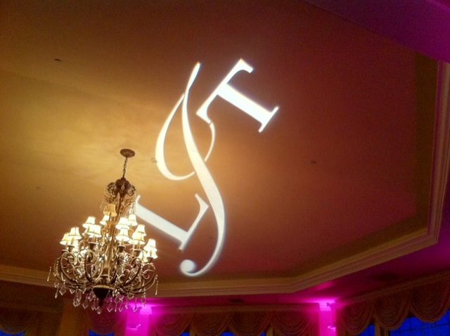 Monogram & Pink Up Lighting @ The Vista at Van Patten Golf Club