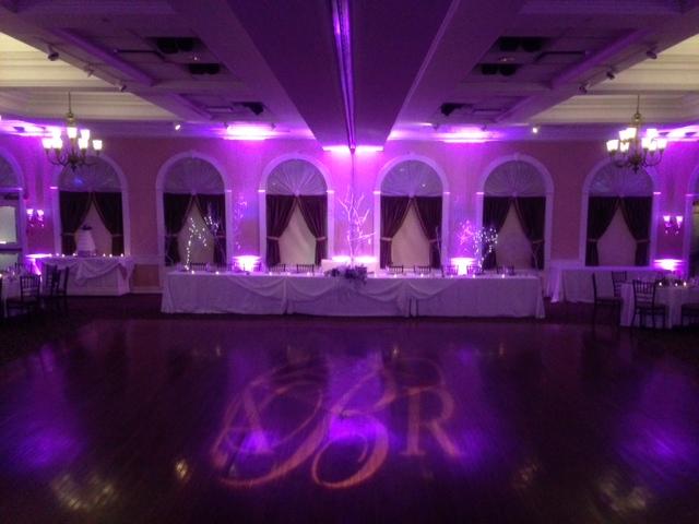 Monogram & Purple Up Lighting @ The Glen Sanders Mansion