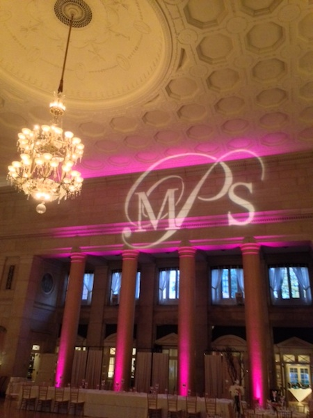 Monogram & Pink Up Lighting @ The Hall of Springs