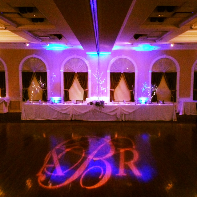 Monogram & Up Lighting @ The Glen Sanders Mansion