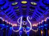Monogram & Blue Up Lighting @ The Canfield Casino