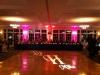 Monogram & Pink + Orange Up Lighting @ River Stone Manor