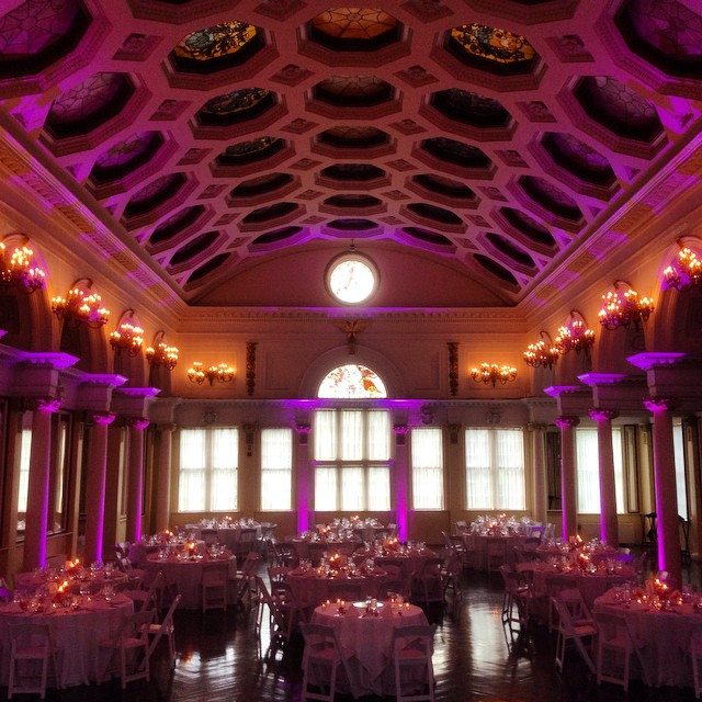 Pink / Purple Up Lighting @ The Canfield Casino