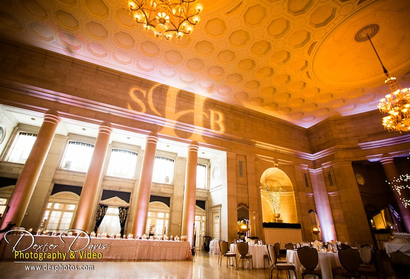 White Up Lighting & Monogram @ The Hall of Springs - Photo by Dexter Davis Photography & Video