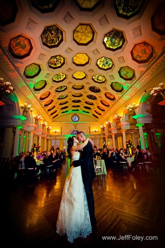 Green & Orange Up Lighting @ Canfield Casino - Photo by Jeff Foley