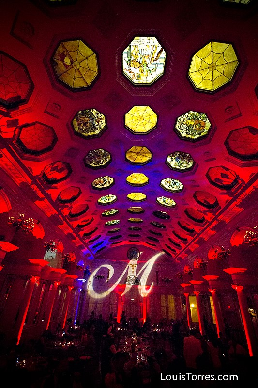 Red Up Lighting & Monogram @ Canfield Casino