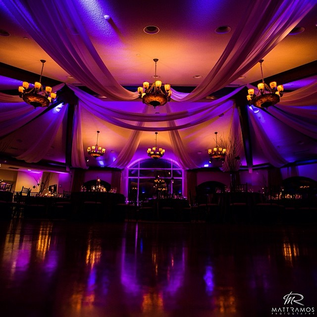 Purple Up Lighting @ Saratoga National Golf Club - Photo by Matt Ramos
