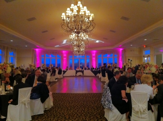 Pink Up Lighting & Monogram Light @ The Vista at Van Patten Golf Club
