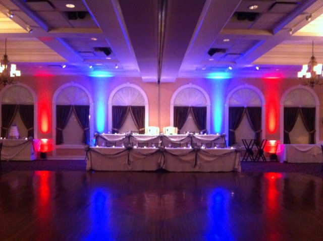 Red & Blue Up Lighting @ Glen Sanders Mansion