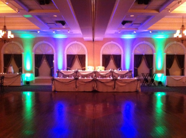 Teal & Purple Up Lighting @ Glen Sanders Mansion