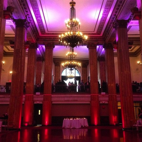 Purple & Red Up Lighting @ 90 State Events
