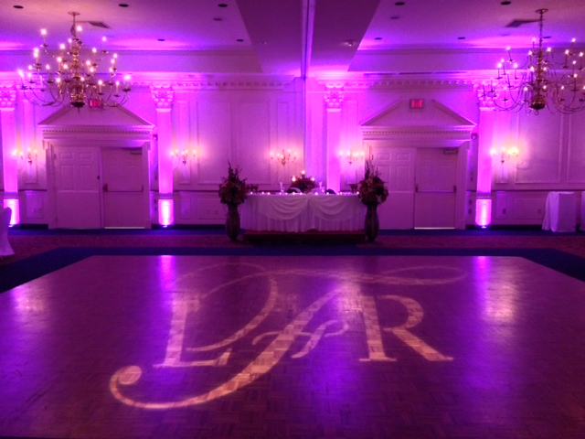 Purple Up Lighting & Monogram @ The Desmond