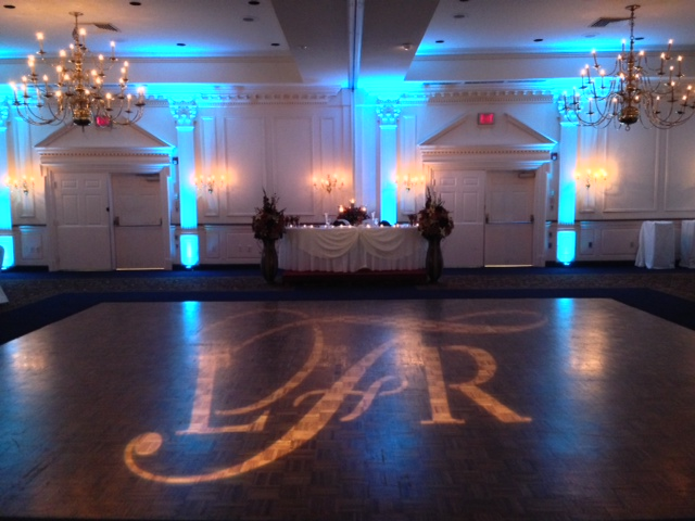 Tiffany Up Lighting & Monogram @ The Desmond