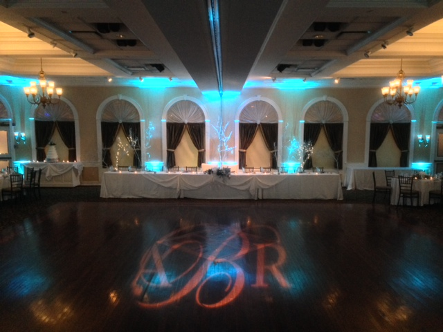 Tiffany Up Lighting & Monogram @ The Glen Sanders Mansion