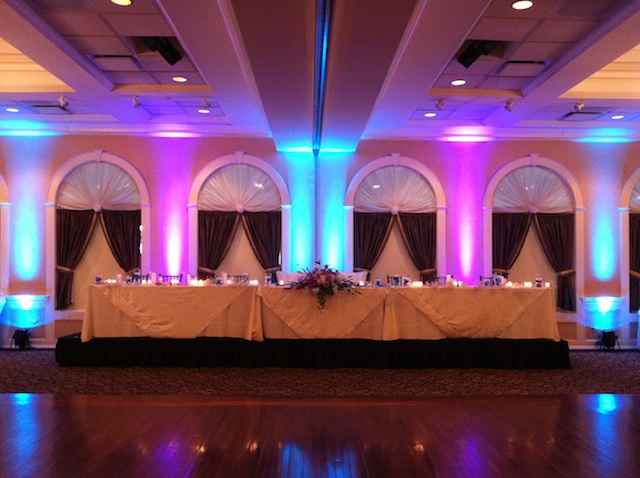 Tiffany Blue & Purple Up Lighting @ Glen Sanders Mansion