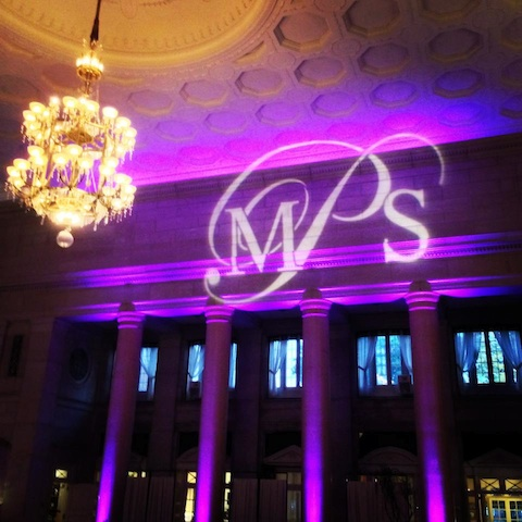 Purple Up Lighting & Monogram @ The Hall of Springs