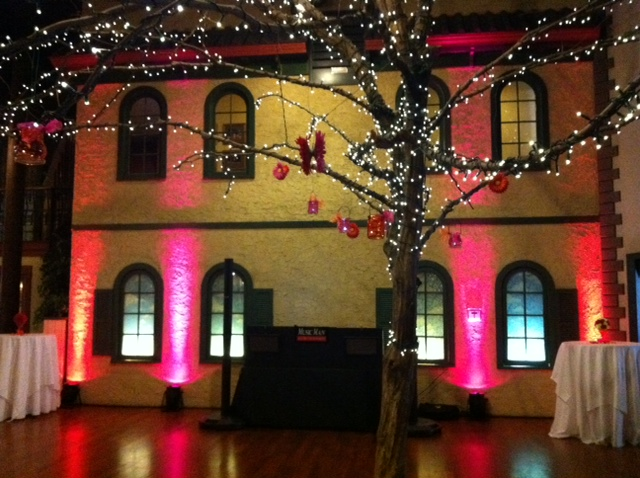 Orange & Pink Up Lighting @ Longfellows