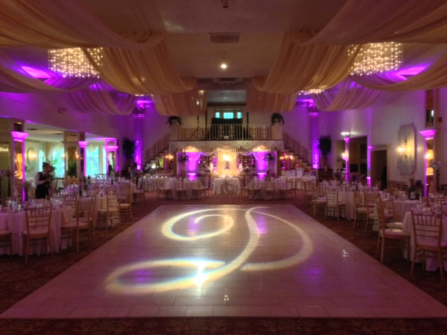 Purple Up Lighting & Monogram @ Mallozzi's