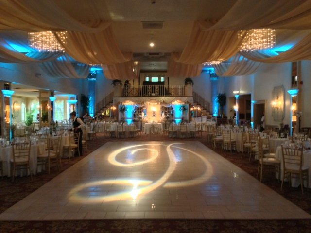 Tiffany Up Lighting & Monogram @ Mallozzi's