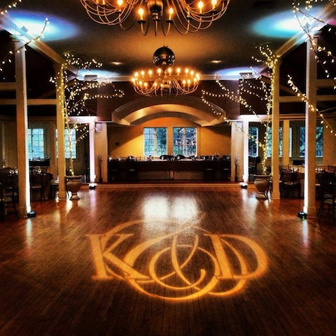White Up Lighting & Monogram @ The Old Daley Inn on Crooked Lake