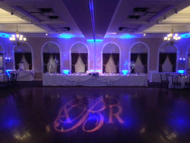 Blue Up Lighting & Monogram @ The Glen Sanders Mansion