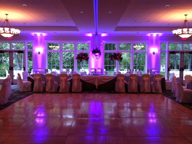 Purple Up Lighting @ River Stone Manor