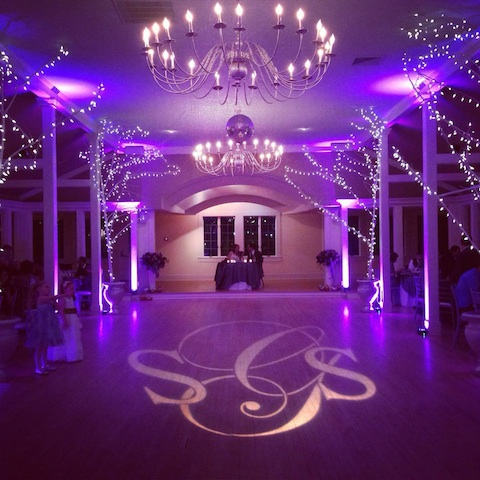 Purple Up Lighting & Monogram @ The Old Daley Inn on Crooked Lake