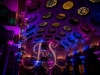 Purple & Blue Up Lighting + Monogram @ The Canfield Casino