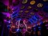 Purple & Blue Up Lighting + Monogram @ The Canfield Casino