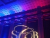 Blue & Red Up Lighting & Monogram @ Key Hall at Proctors