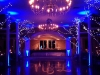 Electric Blue Up Lighting & Monogram @ The Old Daley Inn on Crooked Lake