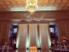 Soft White Up Lighting & Monogram @ The Hall of Springs