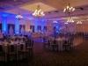 8 Blue Up Lights in Ballroom @ Glen Sanders Mansion
