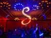 Red Up Lighting & Monogram @ The Clifton Park Hilton Garden Inn - Photo by Lisa Miller of Studio di Luce