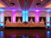 Tiffany Blue & Purple Up Lighting @ Glen Sanders Mansion
