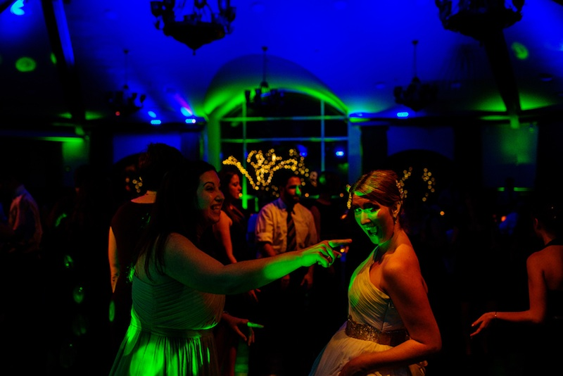 Blue & Lime Up Lighting @ Saratoga National Golf Club - Photo by Tracey Buyce Photography