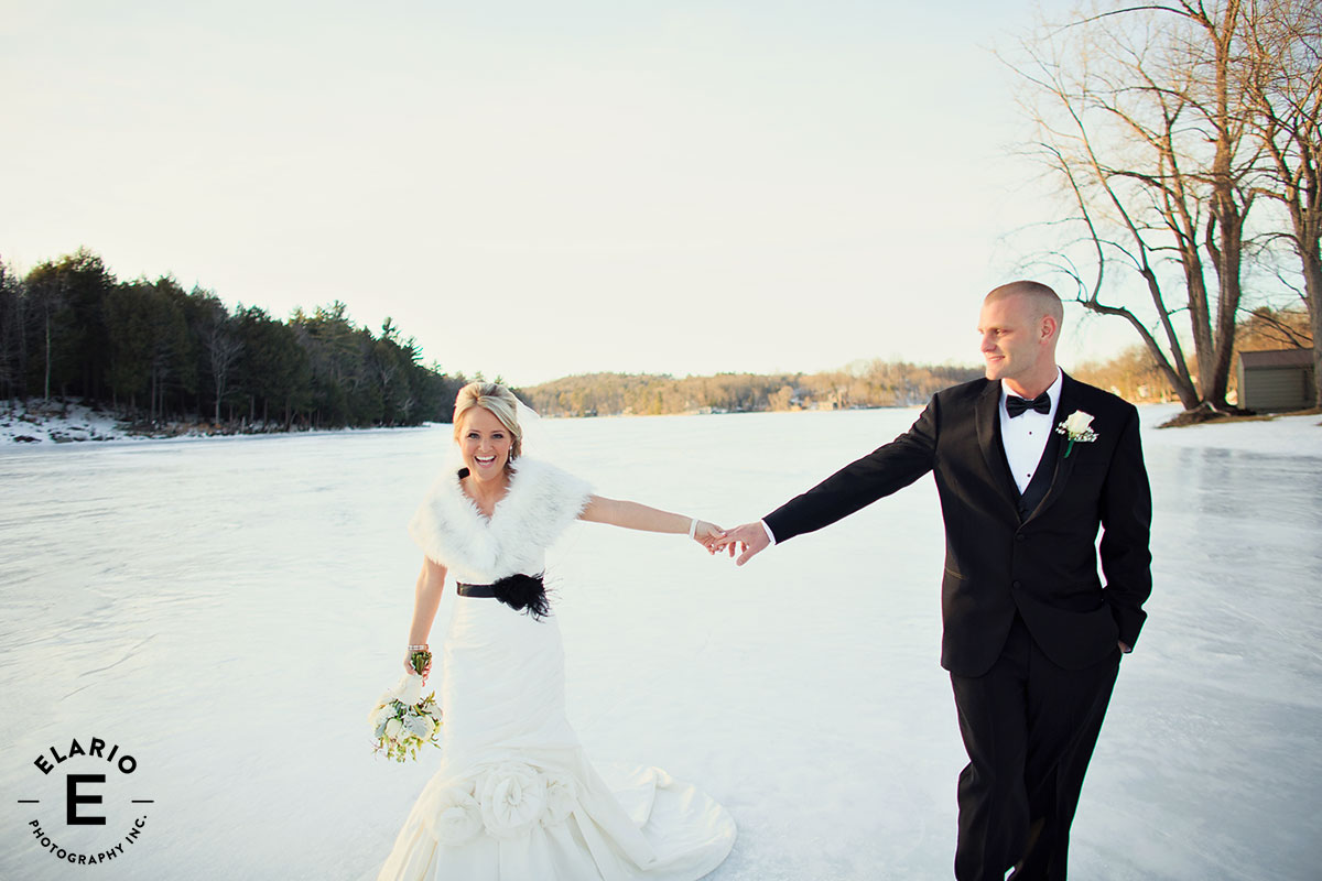 Mr Mrs Winter Wedding At Appel Inn: Old Daley Inn / Crooked Lake / DJ / Music Man