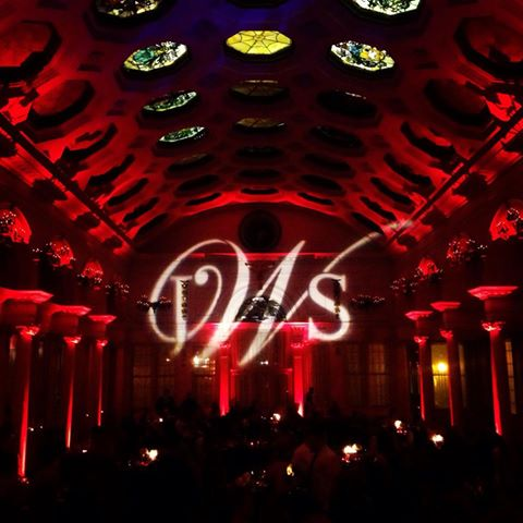 The Canfield Casino with Red Up Lighting & Monogram