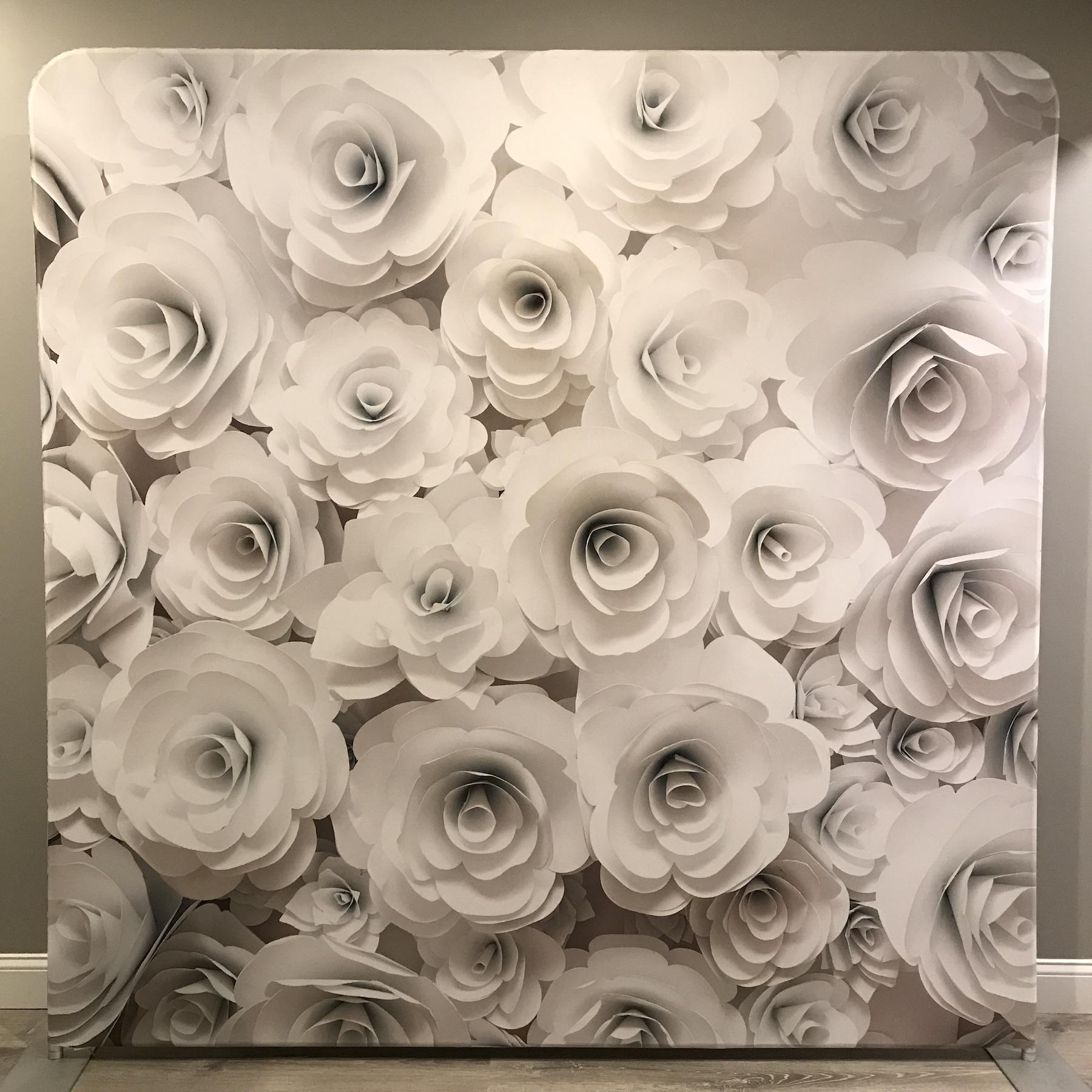 """""""3D WHITE FLOWERS"""""""