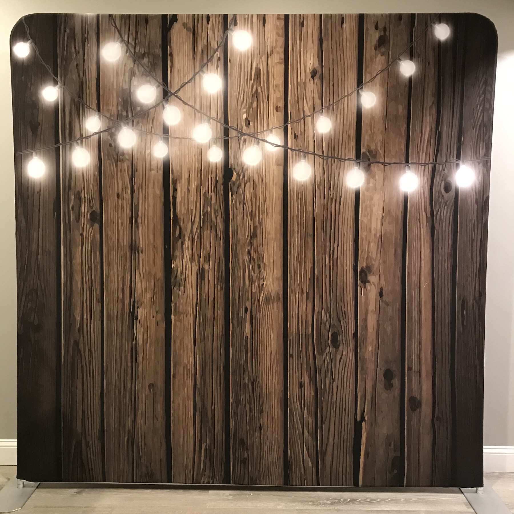 Dark Wood with String Lights
